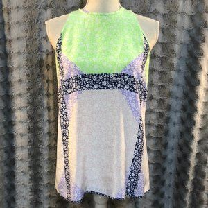 J.CREW Green Pink Purple Blue Floral Tank
